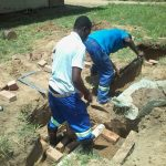 Brick Laying Students on Action